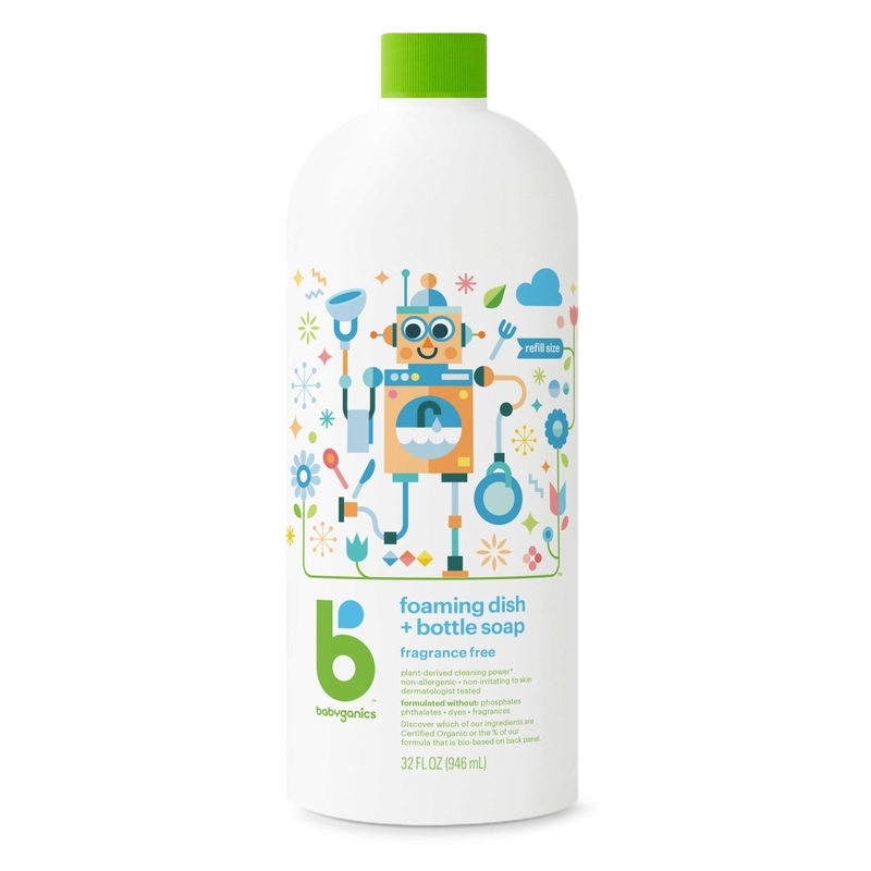 Babyganics Foaming Dish&Bottle Soap Refill 946mL