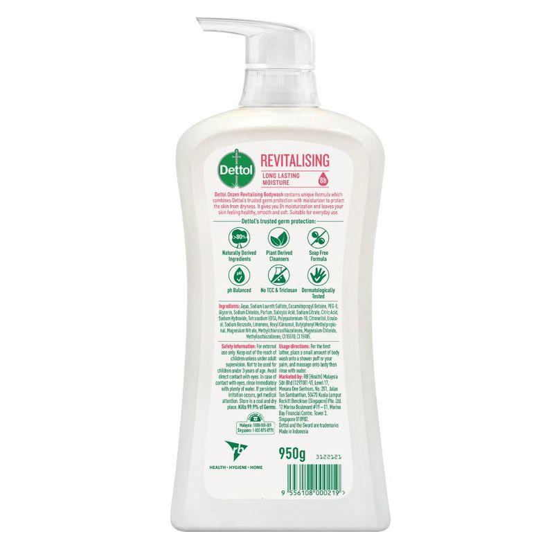 Onzen Revitalizing Anti-Bacterial Bodywash Peach & Raspberry 950g