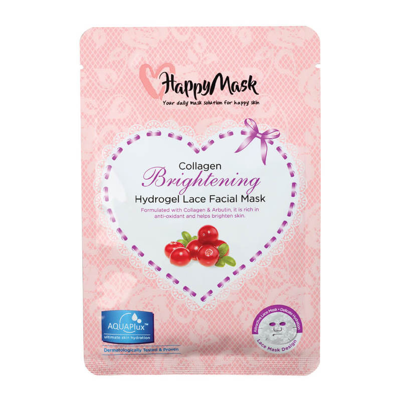 HappyMask Collagen Hydrogel Lace Facial Mask Brightening
