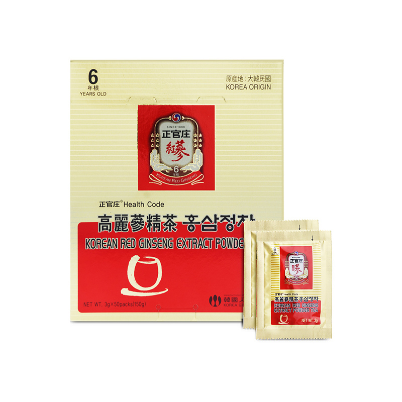 Cheong Kwan Jang Korean Red Ginseng Extract Powder Tea, 50gx30 sachets