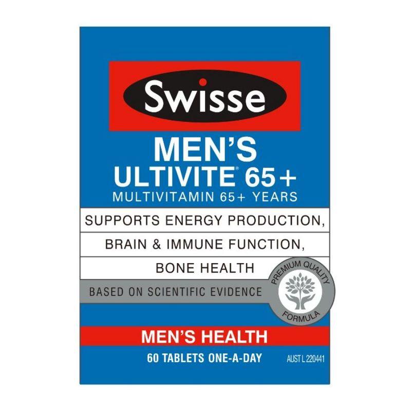 Swisse  Mens 65+ Ultivites 60 Tabs