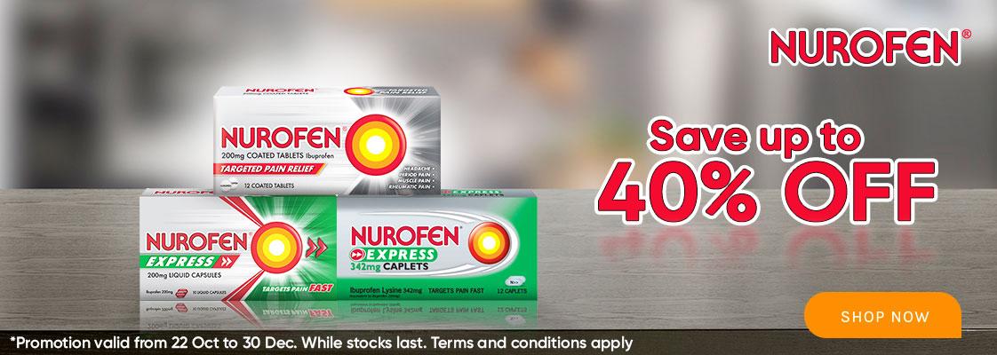 Nurofen 40% Off - 22 to 28 Oct