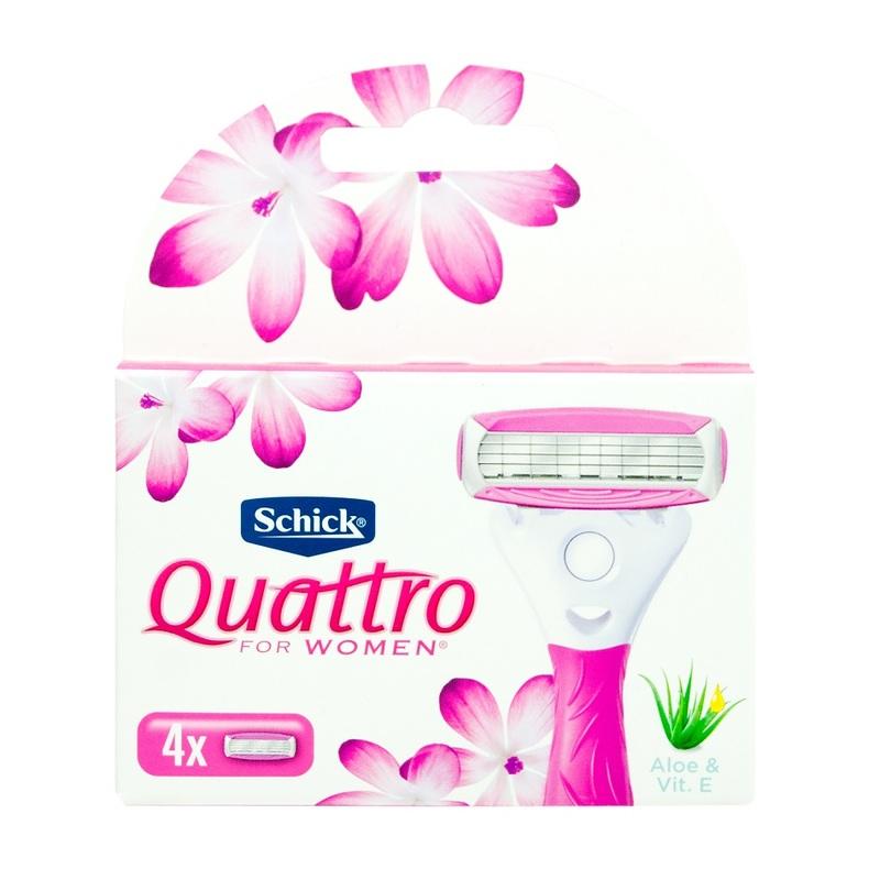 Schick Quattro Blades For Women 4s