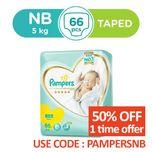 Pampers Silk Diaper New Born, 66pcs