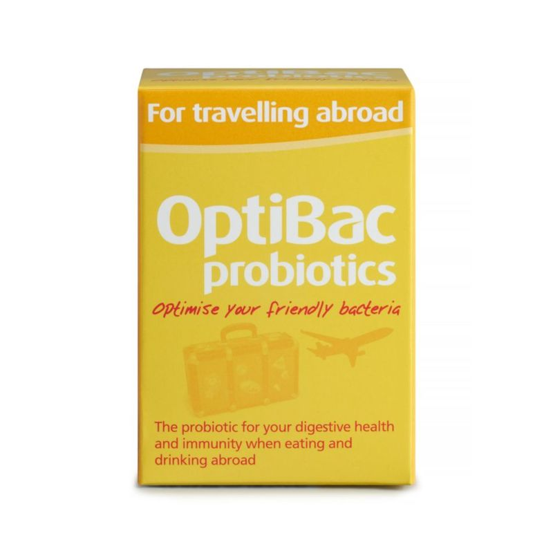 OptiBac Probiotics for Travelling Abroad, 20 fapsules