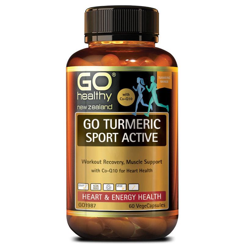GO Healthy Go Turmeric Sport Active, 60 capsules