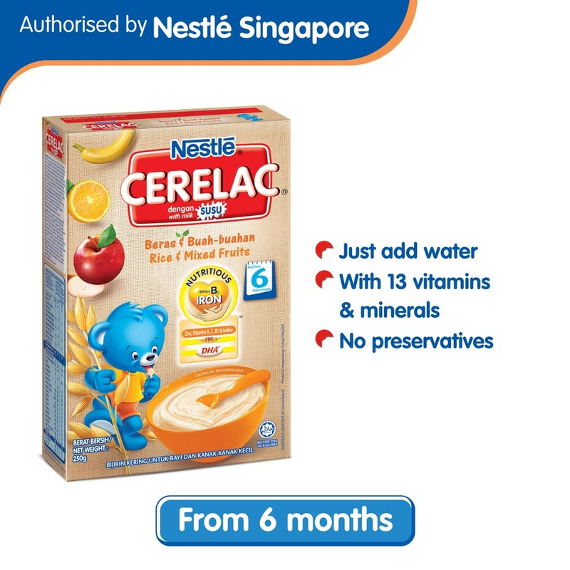 Cerelac Nestle Rice & Mixed Fruits, 250g