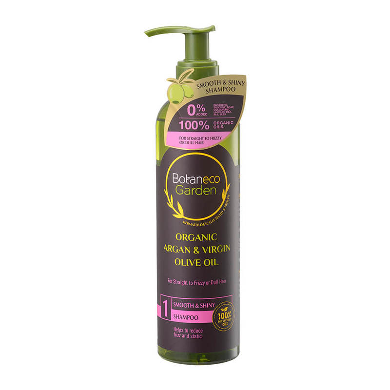 Botaneco Garden Argan and Virgin Olive Oil Shampoo Smooth & Shiny, 290ml