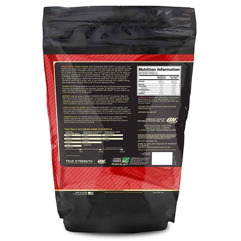 Optimum Nutrition Gold Standard 100% Whey Protein Delicious Strawberry Powder, 454g