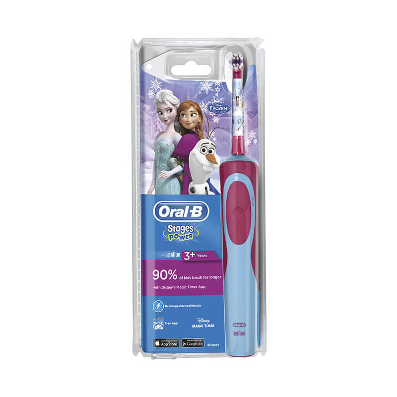 ORAL B stages power 3 years soft toothbrush frozen 1 count