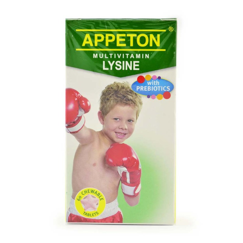 Appeton Multivitamin Lysine With Prebiotic, 60 tablets