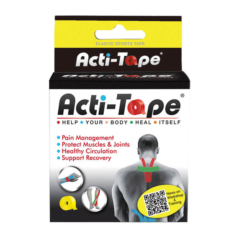 Acti-Tape Yellow Sports Tape 5cm x 5m