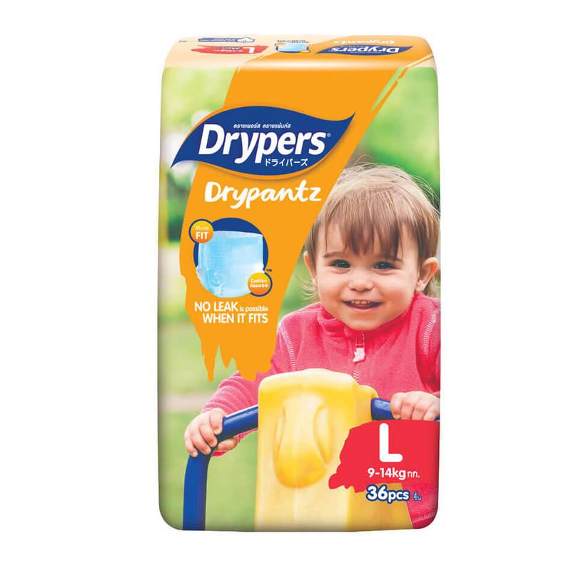 Drypers Drypantz Jumbo L (9-14kg), 36pcs