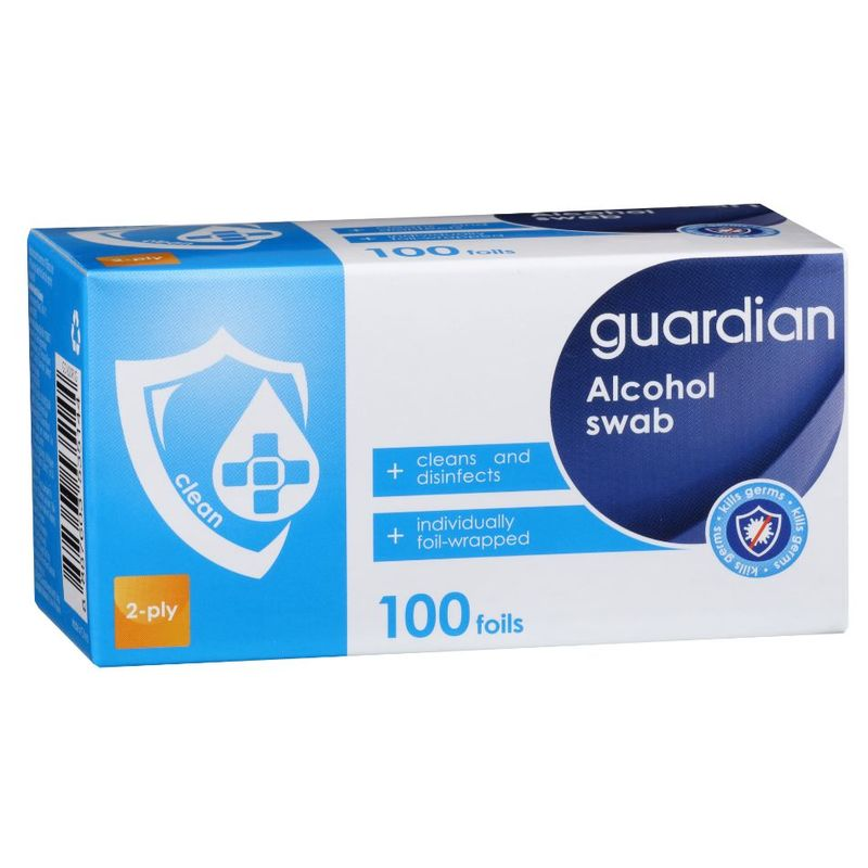 Guardian Alcohol Swab, 100pcs