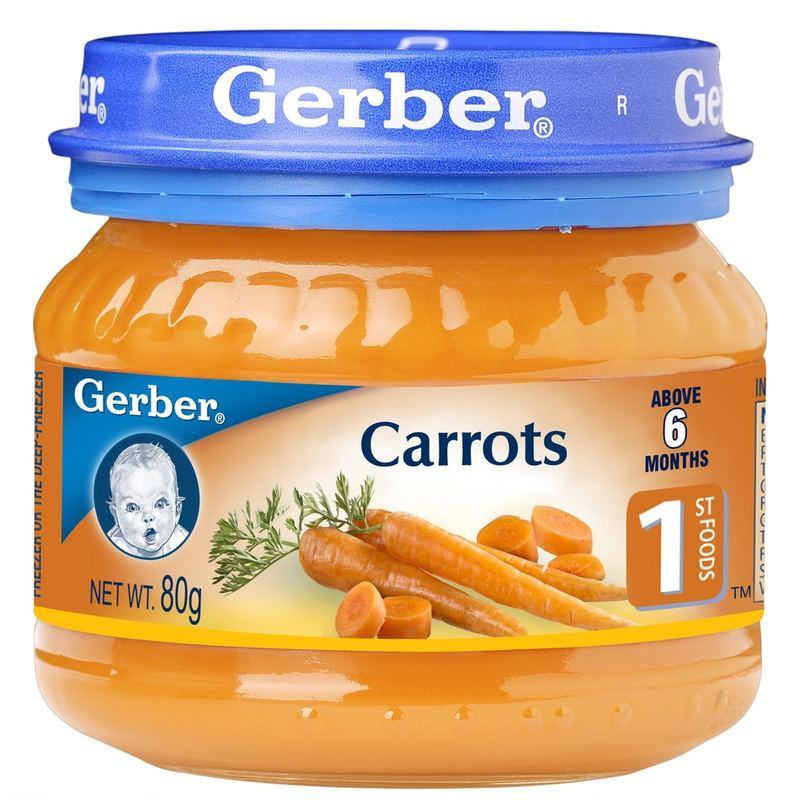 Gerber 1st FOODS Carrots, 80g