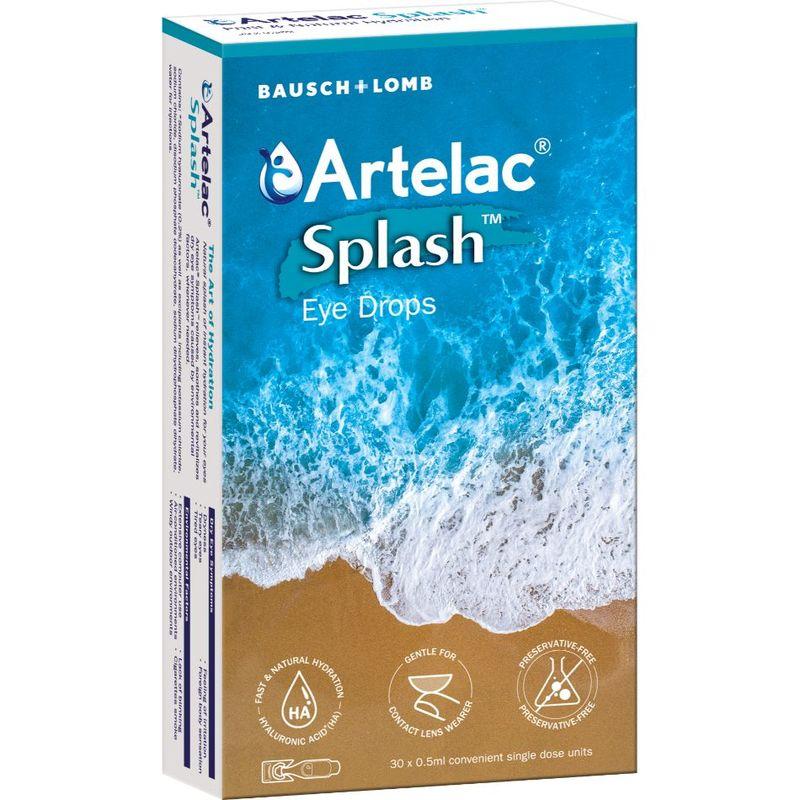 Bausch & Lomb Artelac Splash Eyedrops, 30x0.5ml