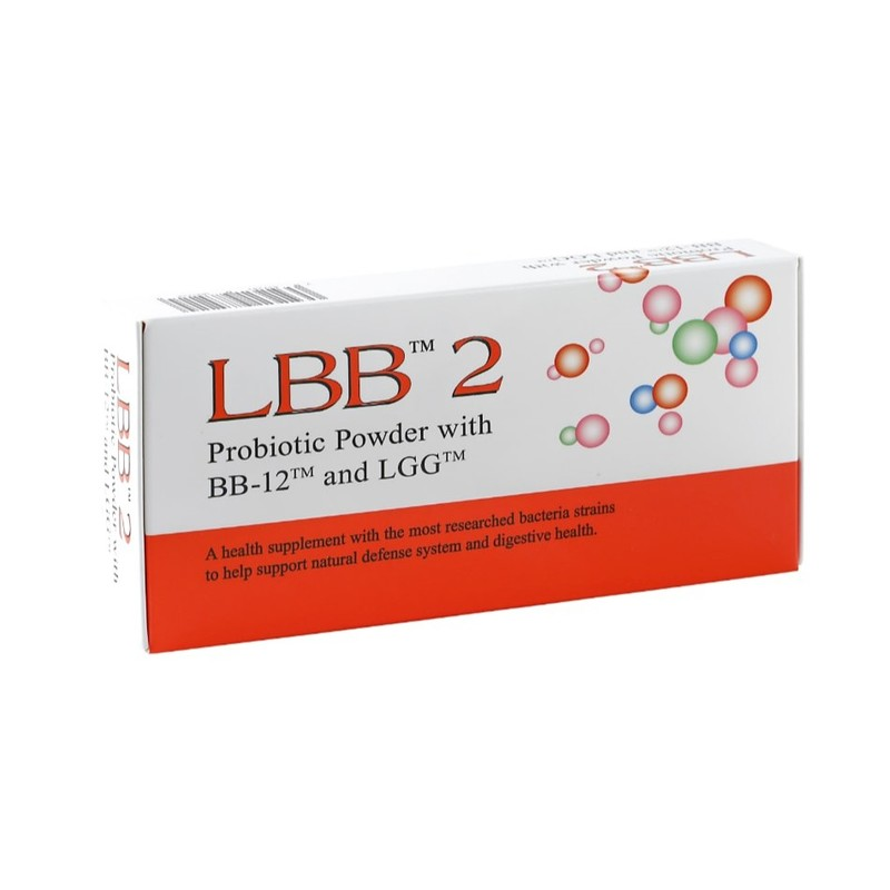 LBB2 Probiotic Powder With BB-12 and LGG, 30 sachets