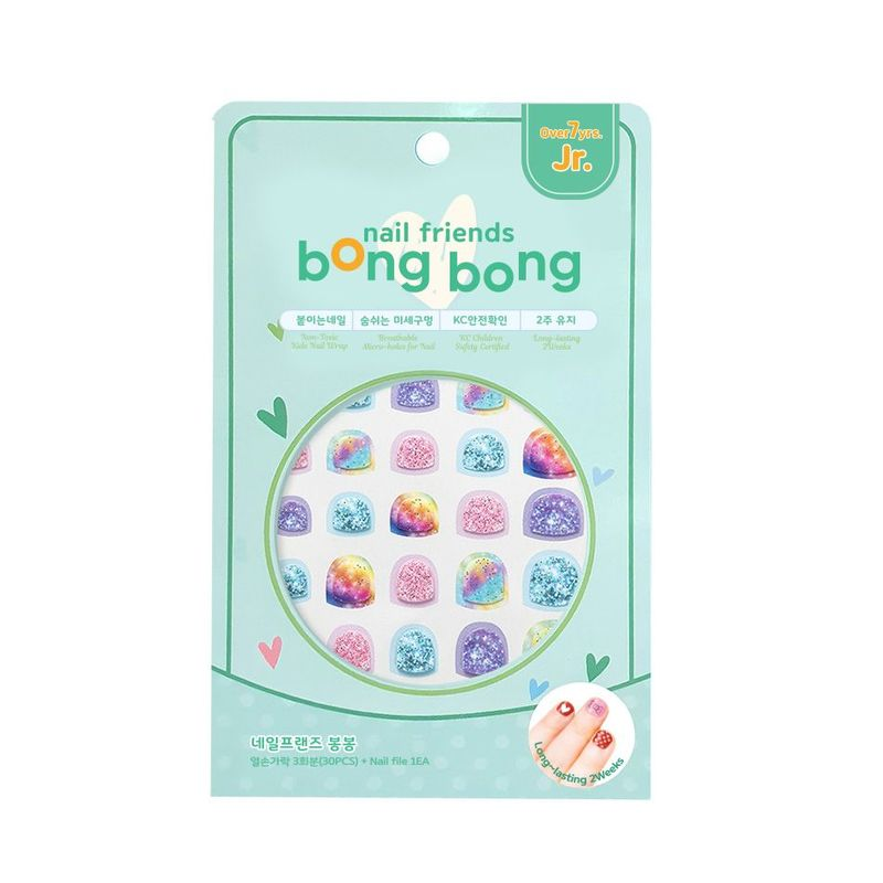Bong Bong Friends Nail Friends For Junior Glitter Milkyway