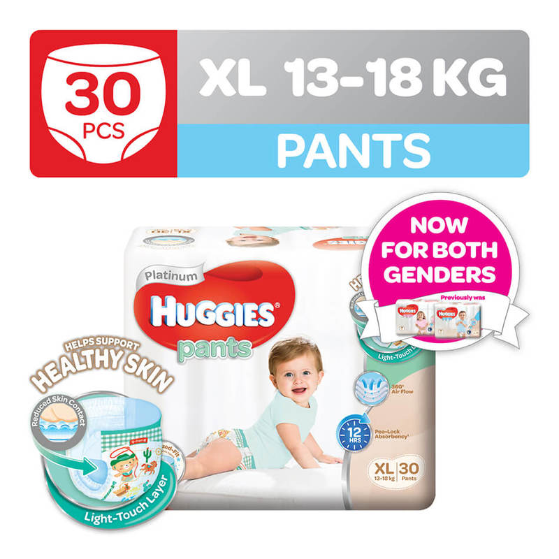 Huggies Platinum Pants (XL) 30pcs