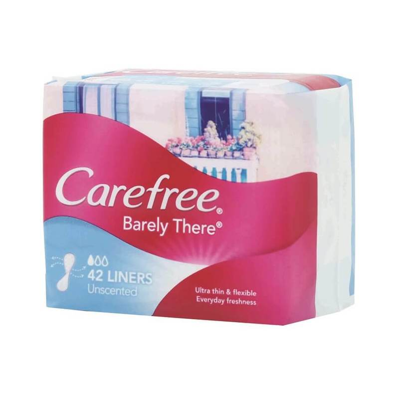 Carefree Pantyliner Barely There Unscented, 42pcs