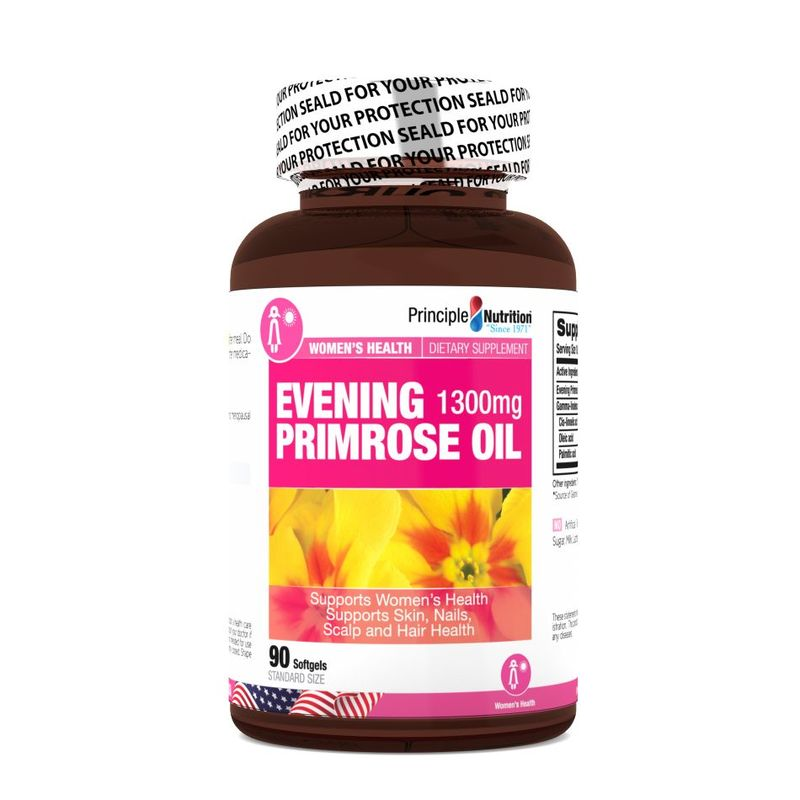 Principle Nutrition Evening Primrose Oil 1300mg, 90 softgels