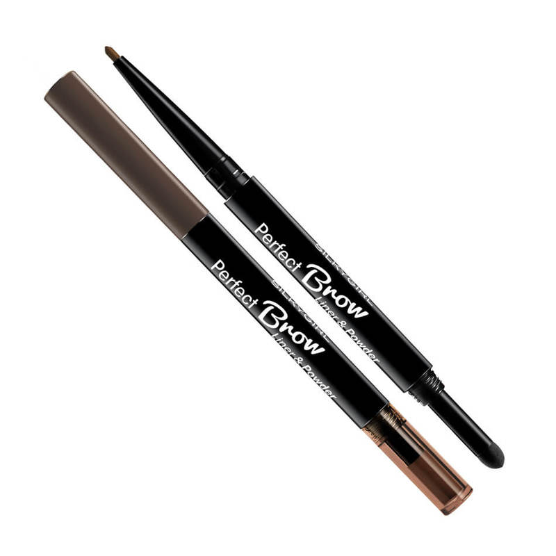 Silkygirl Perfect Brow Liner & Powder 02 Dark Brown