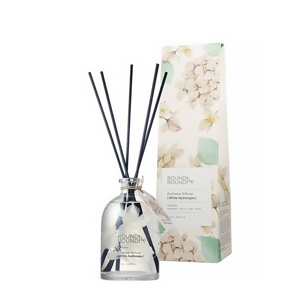 Round A Round Dryflower Diffuser White Hydrangea 145ml Round A Round Guardian Singapore