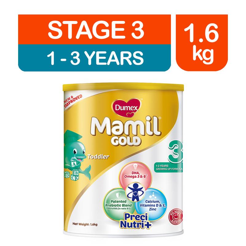 Dumex Mamil Gold Step 3 Baby Milk Formula, 1.6kg
