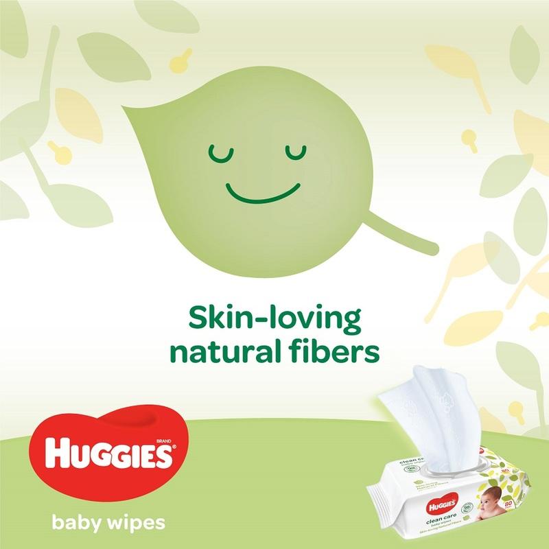 Huggies Clean Care Baby Wipes, 20s