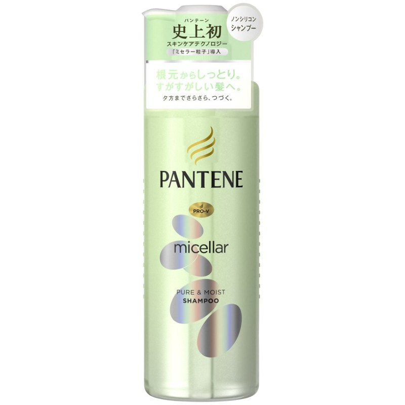 Pantene Micellar Water Pure & Moist Shampoo, 500ml