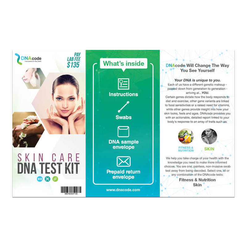 DNAcode Skin Care Test Kit 1s