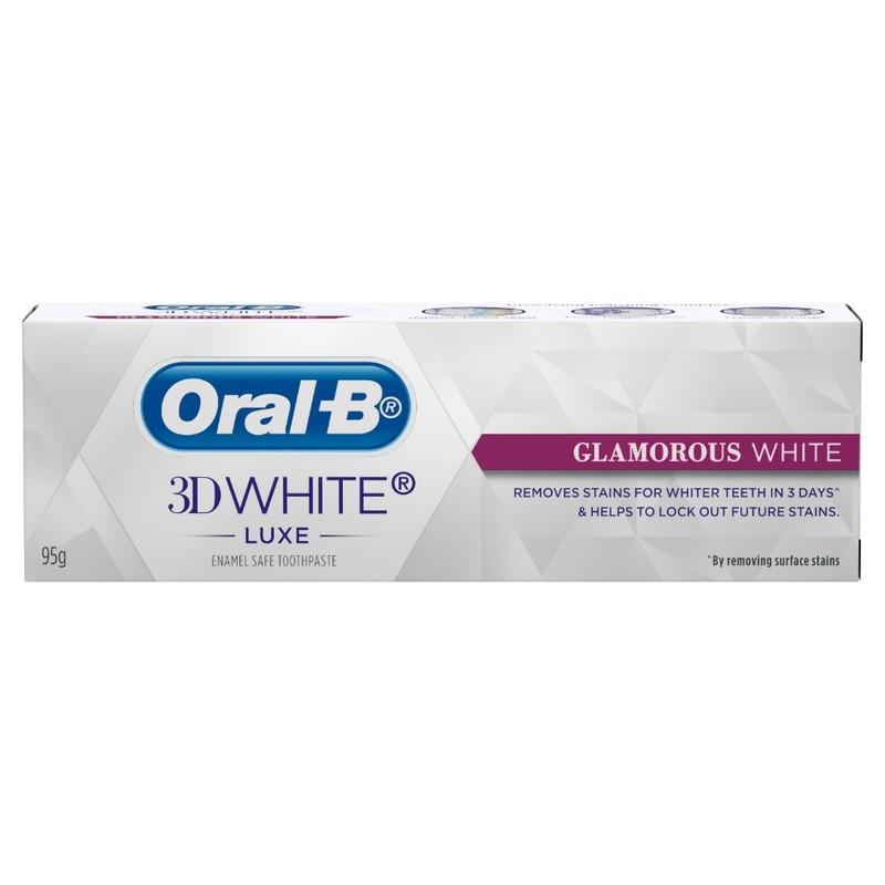 Oral-B 3D White Luxe Glamorous White Toothpaste, 95g