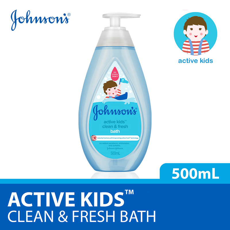 Johnson's Baby Active Kids Clean & Fresh Bath 500ml