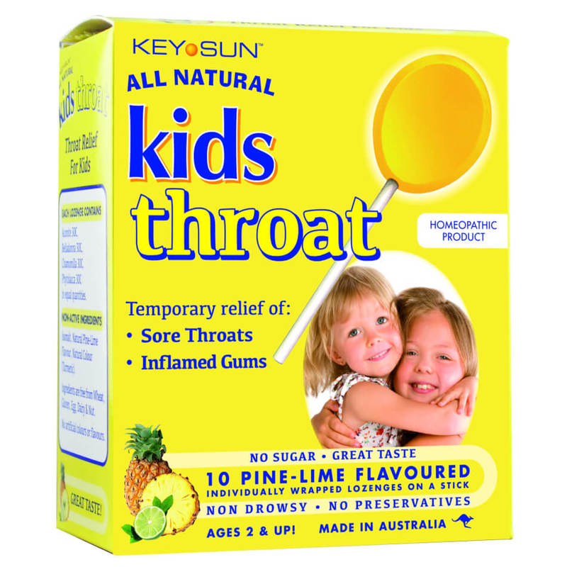 All Natural Kids Throat Lozenges, 10pcs