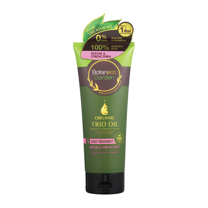 Botaneco Garden Organic Trio Oil Repair and Strengthen Hair Treatment, 225ml