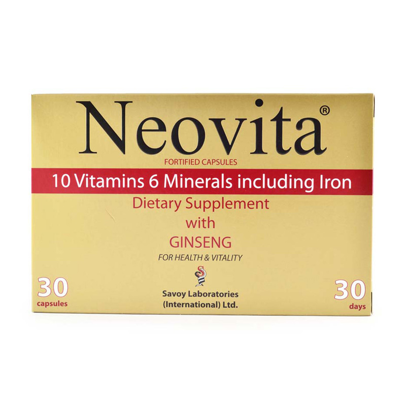 Neovita Dietary Supplement with Ginseng, 30 capsules