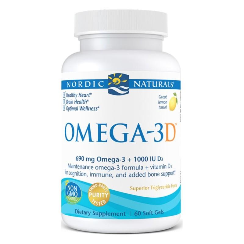 Nordic Naturals Omega-3D 60 Soft Gels