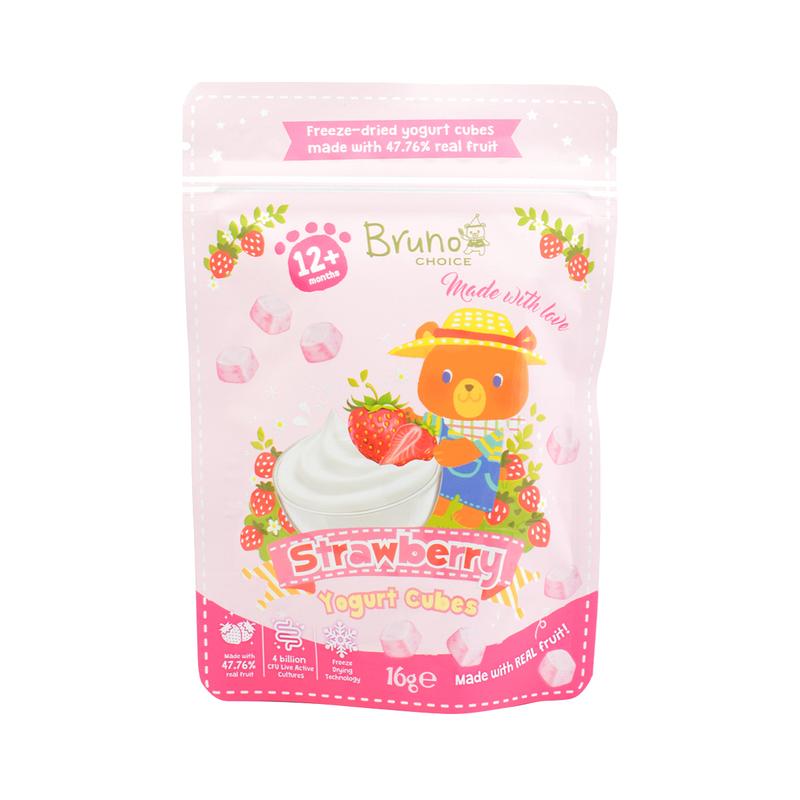 Bruno Choice Strawberry Yogurt Cubes 12+months 16g