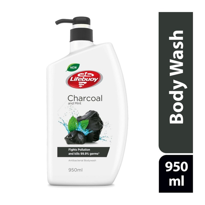Lifebuoy Antibacterial Body Wash Charcoal, 950ml