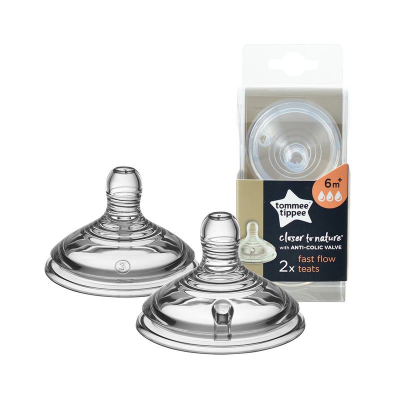Tommee Tippee Closer to Nature® Bottle Teat  Fast Flow 2pcs