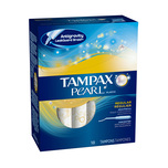 Tampax Pearl Plastic Unscented Regular Tampons, 18pcs