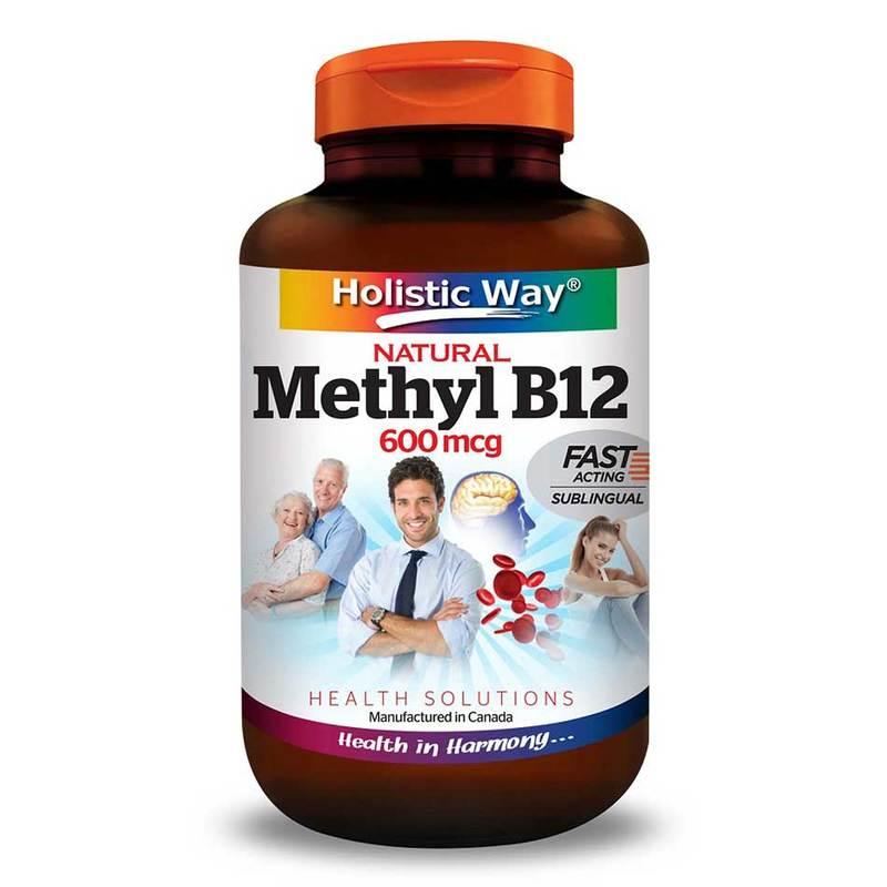 Holistic Way Natural Vitamin B12 600mcg