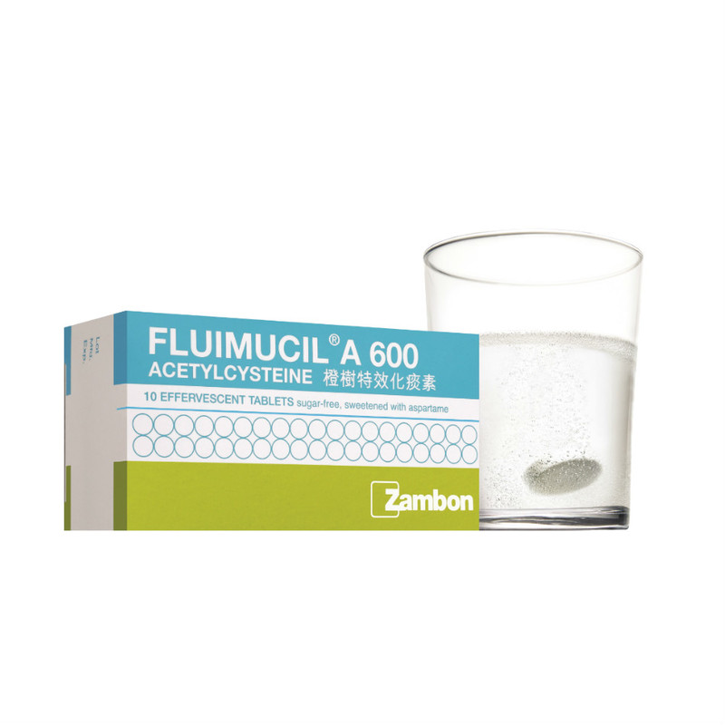 Fluimucil 600mg Effervescent Tablets, 10pcs