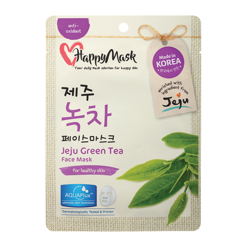 HappyMask Jeju Green Tea Face Mask