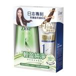 Dove Light Moisture & Purifying Shampoo 700mL+ Treatment 180mL
