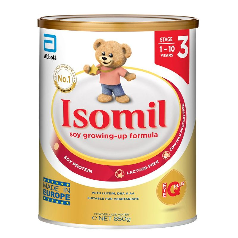 Isomil EyeQ Plus  Soy Growing-Up Formula Stage 3 (1-10Y), 850g