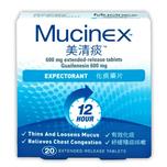 Mucinex 600MG ER TABLETS 20pcs
