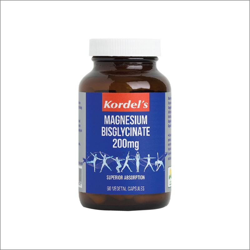 Kordel's Magnesium Bisglycinate 200mg, 60 capsules