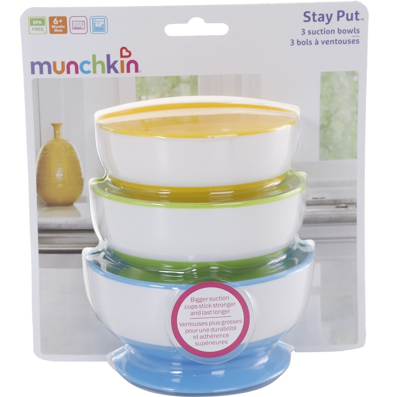 Munchkin Stay-Put Suction Bowl 3s