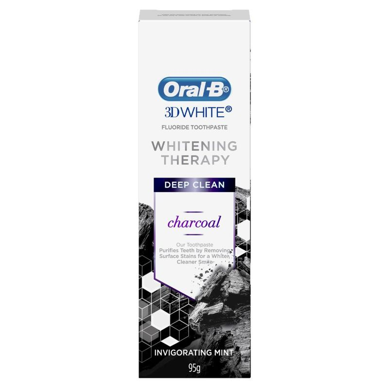 Oral-B 3D White Whitening Therapy Deep Clean Charcoal, 95g